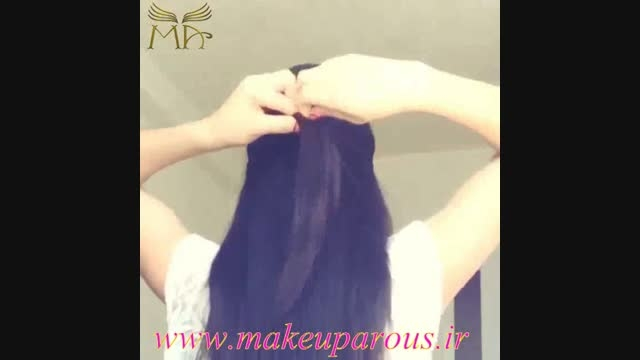 شینیون مو به شکل گل خیلی ساده ولی بسیار زیبا
