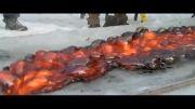وقتی مواد «مذاب» روی یخ ریخته شوند