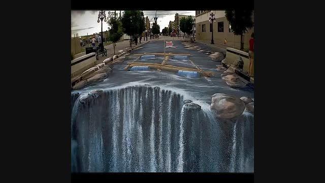 نقاشی های سه بعدی خیابانی چگونه خلق می شوند؟