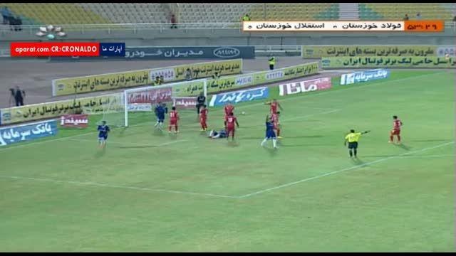 خلاصه بازی : فولاد خوزستان 0 - 2 اس.خوزستان (رفت)