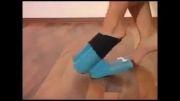 جوراب پا کردن به راحتی!!!
