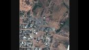 تصاویر ماهواره ای(غزه)قبل و بعد از حملات رژیم صهیونیستی