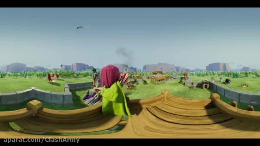 انیمیشن كلش در دنیای مجازی (دوبله خودم)