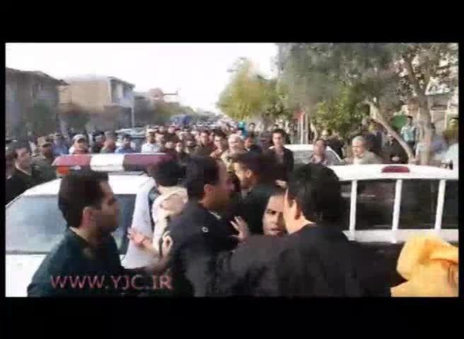 لحظه دستگیری سارق مسلح طلا فروشی در گلستان