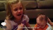 علاقه زیاد دختر به برادر كوچكش -دوبله شده