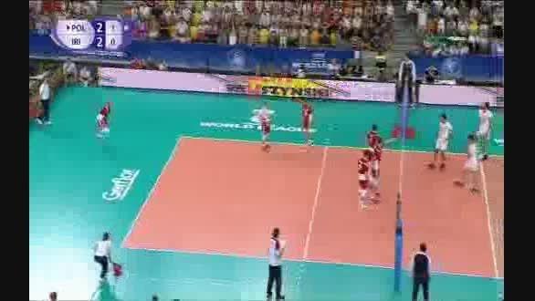 تیم والیبال ایران از لهستان امتیاز گرفت