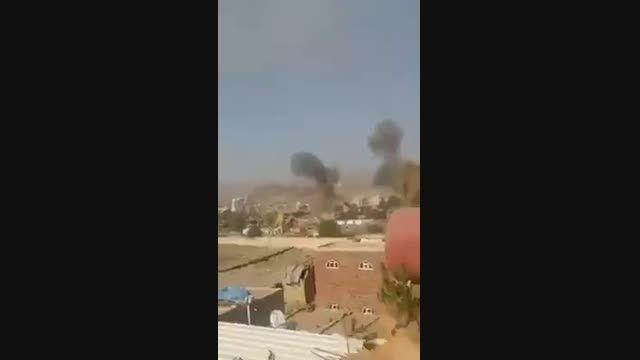 کلیپی کوتاه از لحظه ی حمله ی جنگنده های عربستان