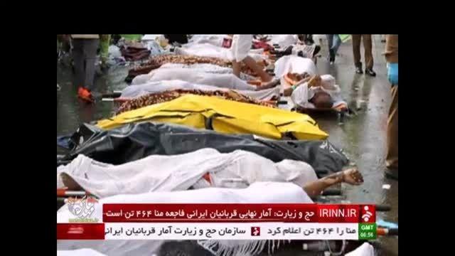 خبر فوری: 464 نفر تعداد جانباختگان فاجعه منا تا کنون
