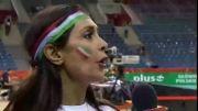 مصاحبه با بانوی ایرانی بعد از بازی والیبال ایران-آمریکا