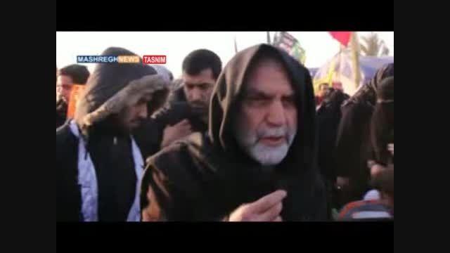 سردار شهید همدانی در پیاده روی اربعین