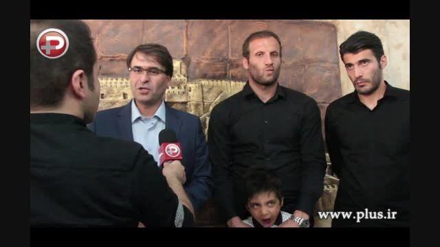نوه امام خمینی(ره)برای عرض تسلیت ب منزل هادی نوروزی رفت