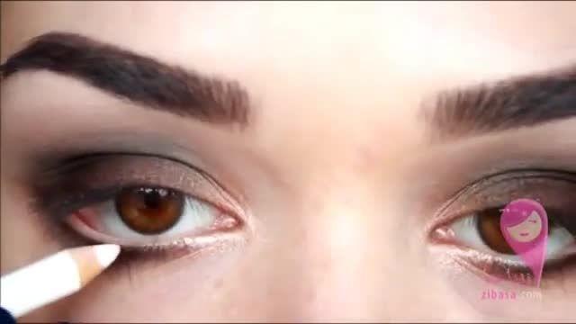 آرایش دودی برای چشم های  قهوه ای ...... بسیار زیبا