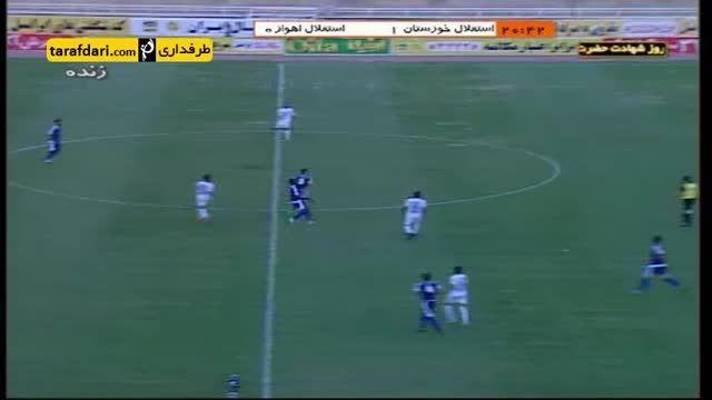 خلاصه بازی استقلال خوزستان 4-0 استقلال اهواز