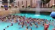 شنا چند صد نفری