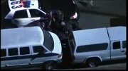درگیری راننده متخلف با پلیس