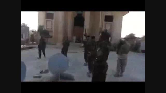 تکریت - جشن پیروزی نیروهای مردمی در کاخ عزت الدوری