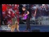 هنرنمایی جالب یک سگ در مسابقه استعداد های درخشان