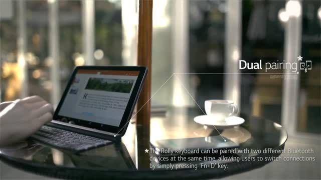 صفحه کلید جمع شدنی ال جی برای تبلت و موبایل - زومیت