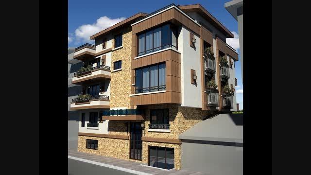 تصاویر طراحی نمای ساختمان - آپارتمانی و ویلائی