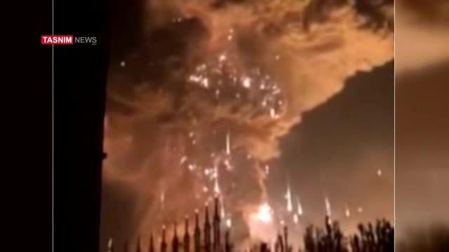 لحظه انفجار کارخانه مواد شیمیایی در چین