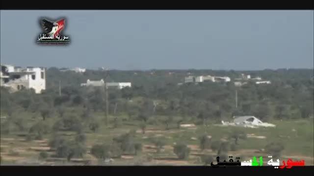 نابودی تانک جبهه تروریستی النصره توسط ارتش سوریه