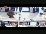 لحظه وقوع سرقت از بانک