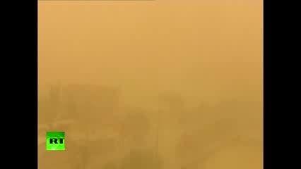طوفان شن در چین زندگی را مختل کرده