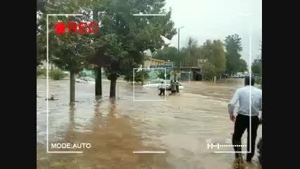 تصاویر سیل در شهرستان کوهدشت