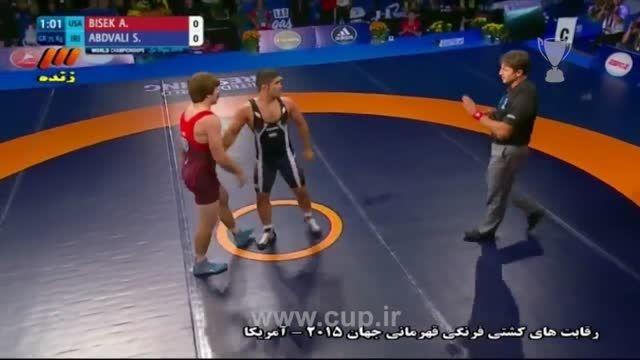 کشتی فرنگی قهرمانی جهان/عبدولی(ایران) 0-2 بسیک(امریکا)