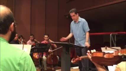 تمرین ارکستر برای کنسرت شب موسیقی فیلم مسعود کیمیایی