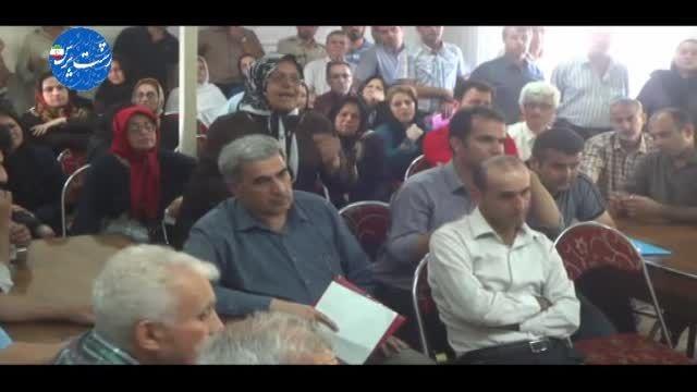 کلیپ استقبال تلخ ساکنین مسکن مهر رشت از معاون وزیر