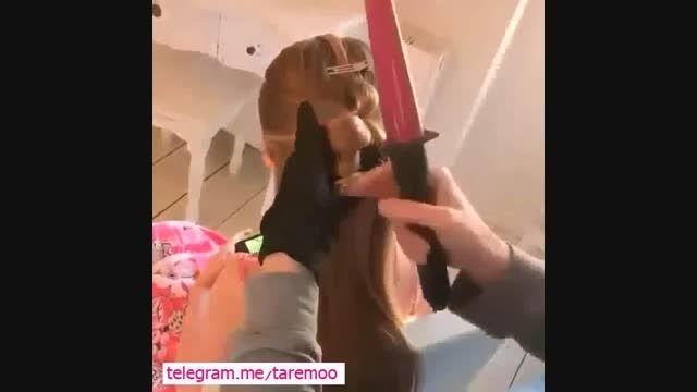 آرایش زیبای مو،شینیون دخترانه در تارمو