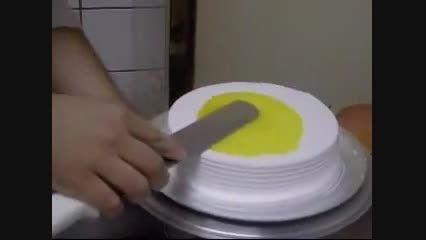 فیلم تزیین کیک و شیرینی - تزیین گل رز خامه ای