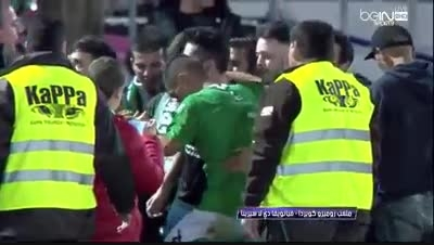 خوشحالی بازیکنان ویانونسه پس از تساوی مقابل بارسلونا
