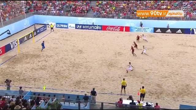 خلاصه فوتبال ساحلی: پرتغال ۴-۲ روسیه