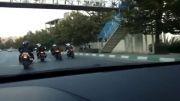 رژه موتور های سنگین در تهران