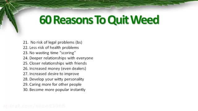 60 دلیل برای اینکه مصرف ماریجوانا رو ترک کنی