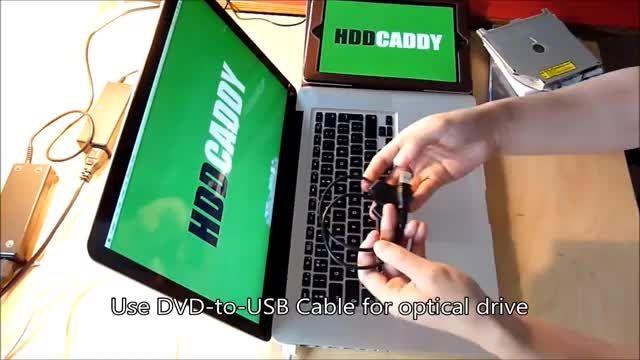 استفاده از درایو نوری بعد از جایگزینی توسط hddcaddy