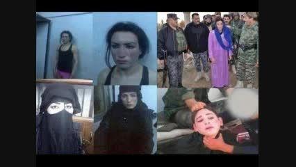 داعشی های بزدل با لباس زنانه در حال فرار دستگیر شدند