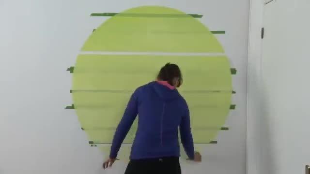 دکوراسیون- ایده خلاق برای رنگ کردن دیوار
