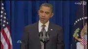 یک حرکت عجیب از باراک  اوباما (حتما ببینید )