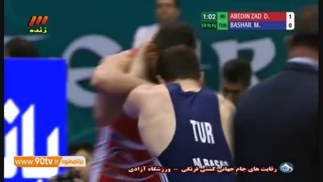 جام جهانی کشتی فرنگی(رده بندی)پیروزی عابدین زاده-۸۵کیلو