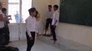 دعوای دو دانش آموز در کلاس درس!....