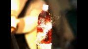 برش دادن بطری پلاستیکی