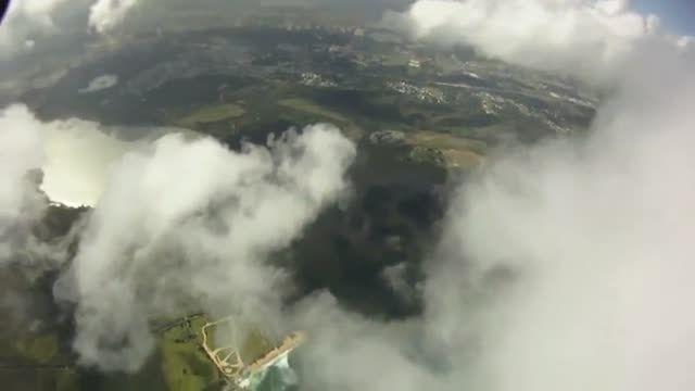 ابرنوردی بر فراز «پورتوریکو» با «لباس بالدار»