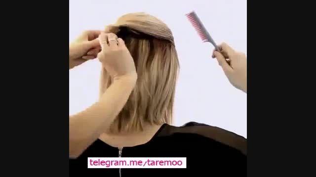 بافت و شینیون مو زیبا در تارمو