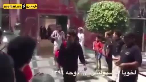 درگیری بازیکن پرسپولیسی با هوادارش