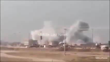 بمباران هوایی داعش