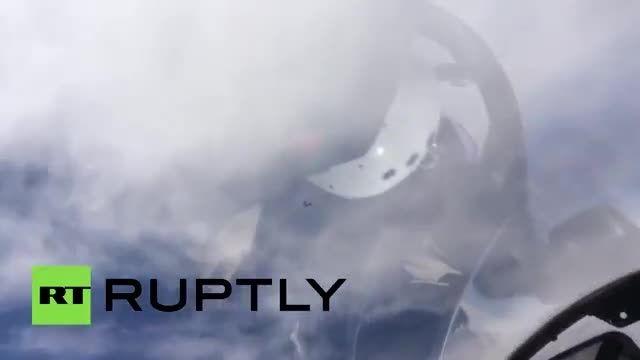 رهگیری هواپیمای جاسوسی آمریکا بوسیله جنگنده های روسیه