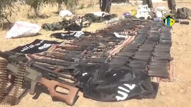 غنائم جنگی کردها از داعش